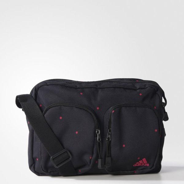 ADIDAS 側背包 肩背包 黑 桃 【運動世界】AJ4235