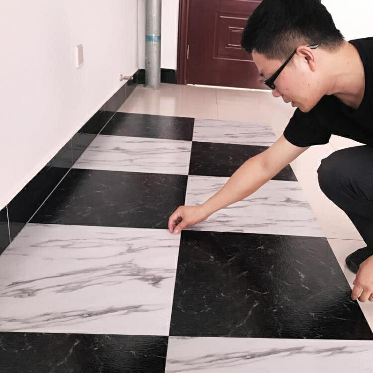 防撞貼紙 PVC地板貼免膠地板革家用加厚耐磨防水臥室自粘地板貼紙塑膠地板 萬寶屋 清涼一夏钜惠