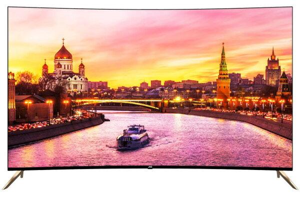 吉盛聯合:含運含安裝JVC65吋型廣色域4K曲面螢幕智慧聯網電視顯示器65X勝UA65MU8000