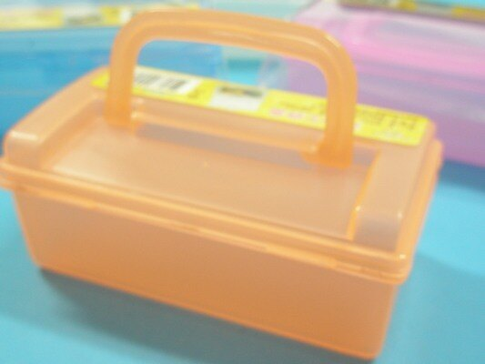 手提儲物箱R-627收納盒 收納箱 整理箱 置物箱 化妝盒 手提工具盒/一包12個入{定20}