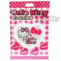 電暖器推薦加購免運↘$299〔小禮堂〕Hello Kitty 愛心造型暖蛋《白.粉蝴蝶結.大臉》附LED照明小燈