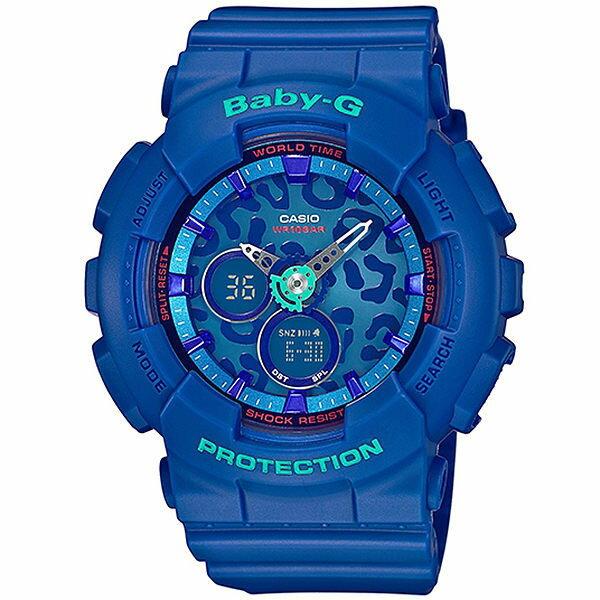 【時光鐘錶】CASIO BABY-G 豹紋 運動 防水 錶 BA-120LP-2A