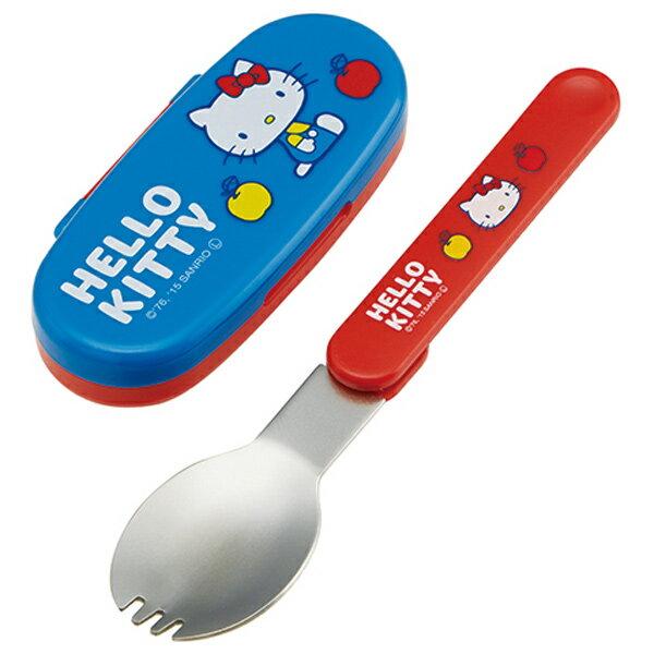 日本原裝進口 SKATER HELLO KITTY 凱蒂貓 旋轉式湯匙 付收納外盒