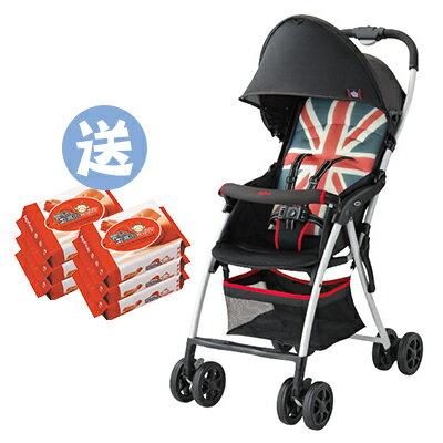 【悅兒樂婦幼用品?】Aprica愛普力卡 Magical Air Plus S 超輕量單向嬰幼兒手堆車-英倫風【送濕巾20抽x2】