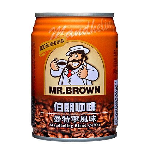金車伯朗咖啡-曼特寧口味240ml*6入【愛買】