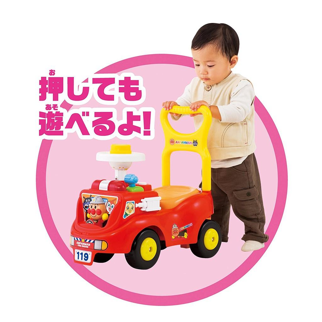 【預購】日本正版 麵包超人 ANPANMAN 消防車 手推車 玩具車 嬰幼兒學步車【星野日本玩具】