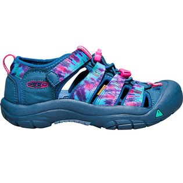 《台南悠活運動家》KEENNEWPORTH2兒童護趾涼鞋灰藍印花1017311