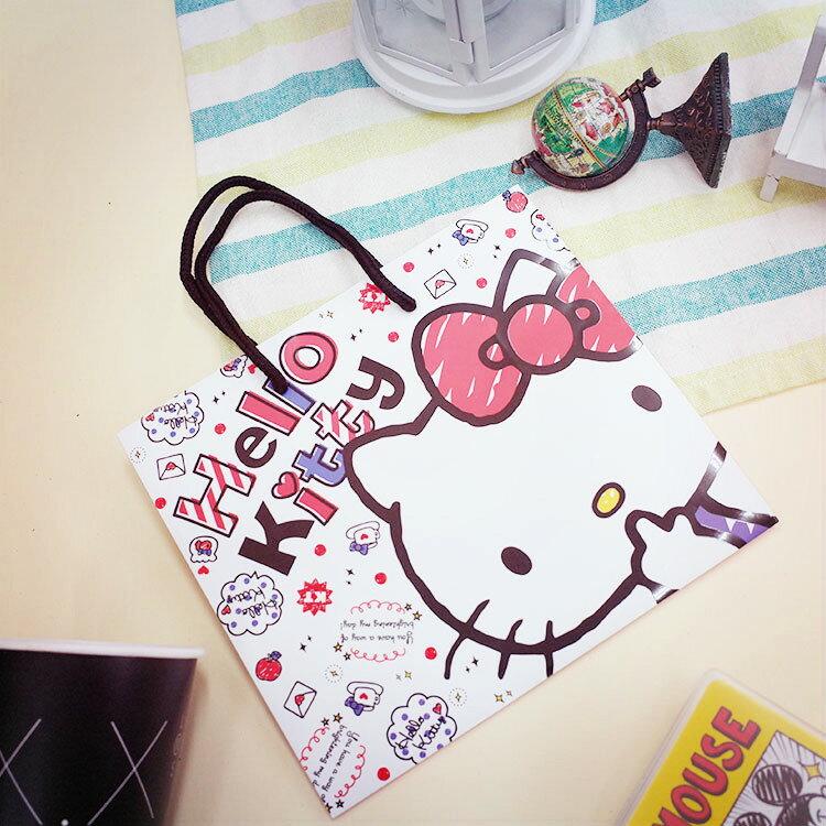 PGS7 三麗鷗系列商品 - 三麗鷗 方型 提紙袋 Hello Kitty 凱蒂貓 提袋 禮物袋【SHQ61208】