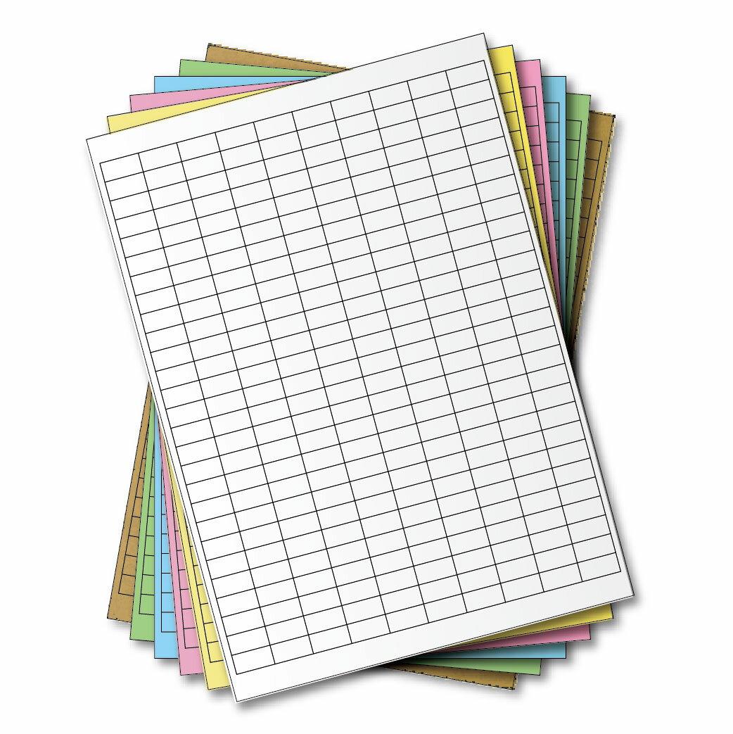 西瓜籽 龍德 三用電腦標籤貼紙 270格 LD-881-W-A 白色 105張(盒)