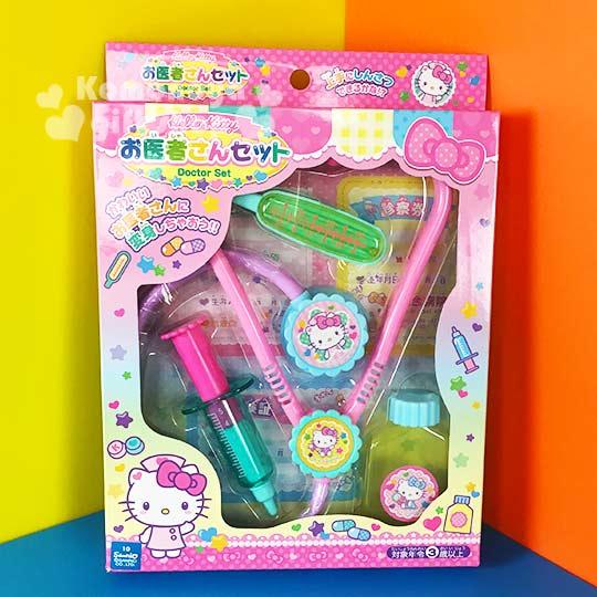 〔小禮堂嬰幼館〕Hello Kitty 醫生玩具組《粉.護士帽.舉單手》增加親子互動