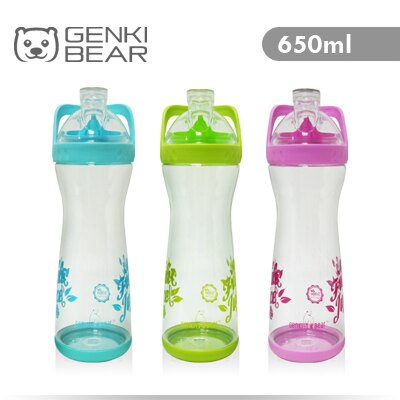GENKI BEAR 果漾Tritan隨手瓶/水壺650ml 3色可選
