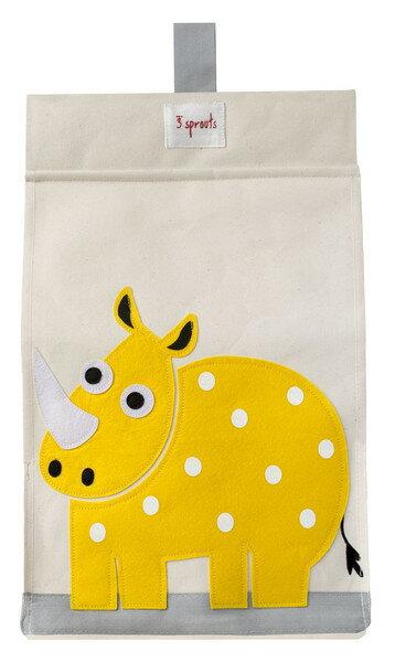 【淘氣寶寶】加拿大 3 Sprouts 尿布收納袋-犀牛【大容量口袋,收納便利】【保證公司貨】