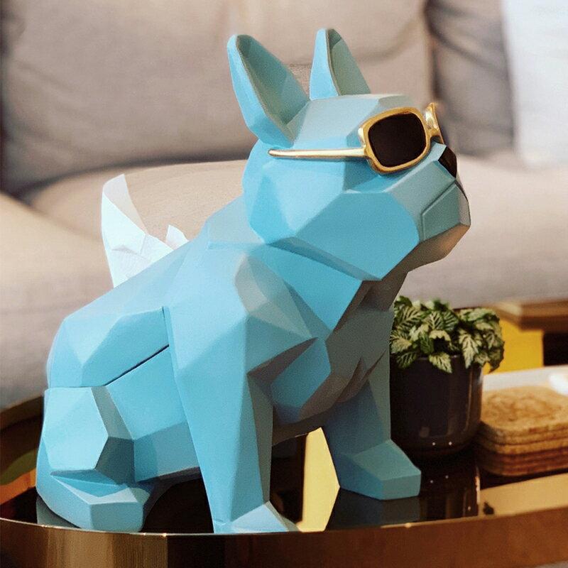 北歐ins紙巾盒斗牛犬創意可愛抽紙盒家用