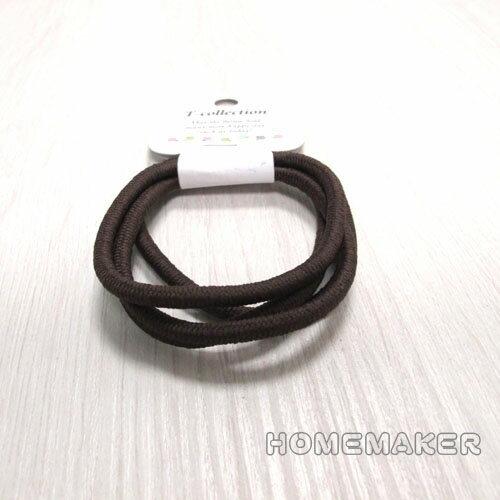 家的新衣:素色髮圈(咖)_JK-74971