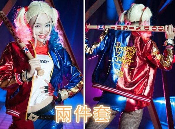 自殺突擊隊哈立奎因角色扮演Cosplay小丑女服裝 上衣 加 短褲 150000