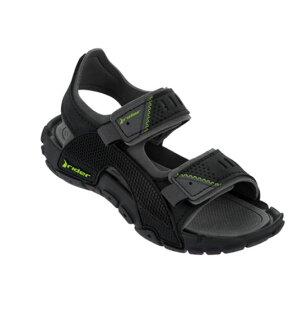 陽光運動館:[陽光樂活]RiderTENDER時尚機能兒童涼鞋抗菌黑綠RI8171023943