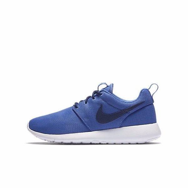 NIKE ROSHE ONE GS 大童 女鞋 慢跑 網布 透氣 舒適 輕量 藍 【運動世界】 599728-420