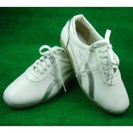 白色34興武堂正品軟羊皮太極鞋子練功鞋男女太極拳鞋牛筋底真皮防滑耐磨