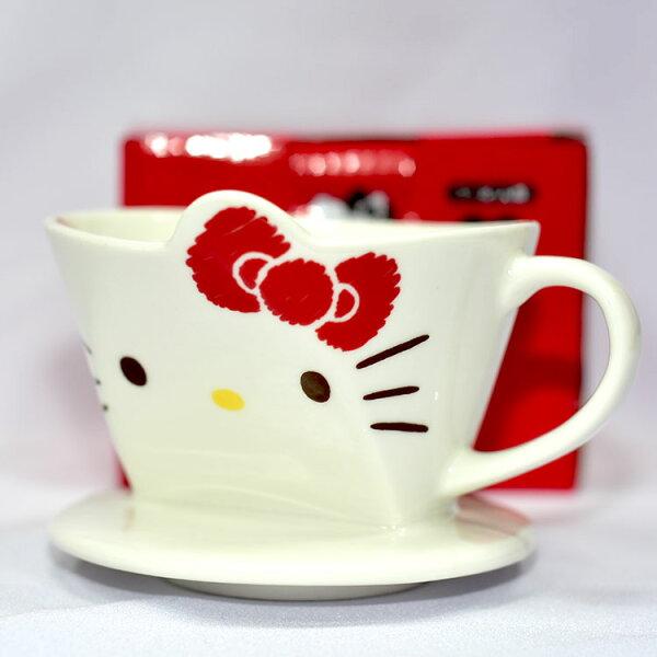 HelloKitty手沖咖啡陶磁濾杯1-2人份日本正版