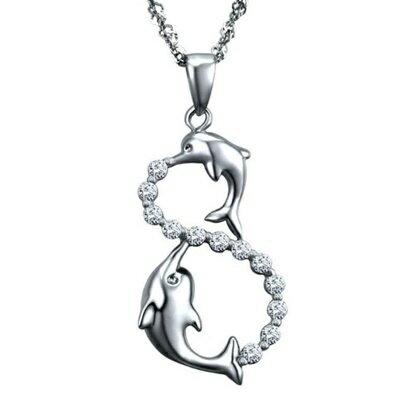 925純銀項鍊 鑲鑽吊墜~簡潔亮眼可愛迷人母親節情人節生日 女飾品73dk50~ ~~米蘭