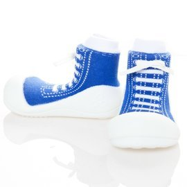 【淘氣寶寶】韓國【Attipas】快樂腳襪型學步鞋-律動深藍M