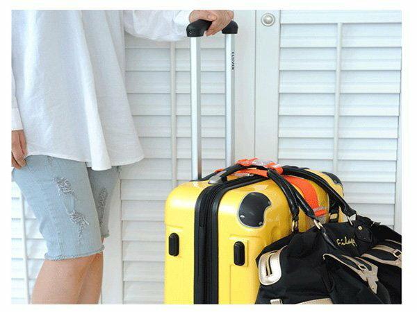 BO雜貨【SV6164】韓版旅行行李夾持器包包固定夾扣便攜省力掛帶行李箱包包掛扣單扣