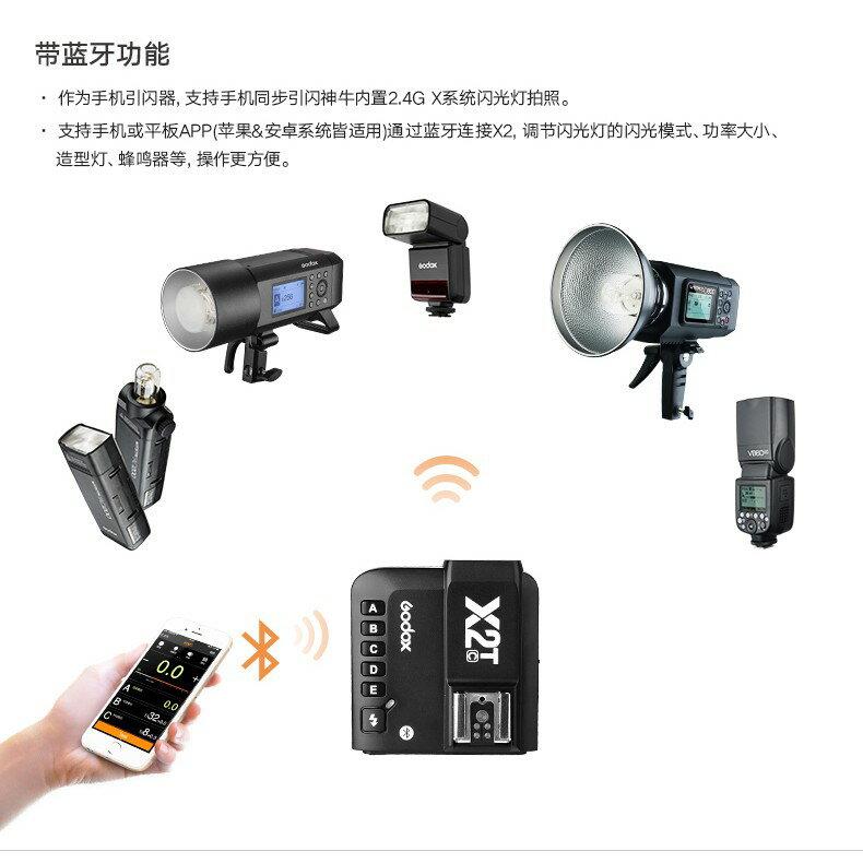 【eYe攝影】開年公司貨 神牛 GODOX X2T 無線引閃器 發射器 TX 閃光燈觸發器 高速TTL 手機藍芽遙控