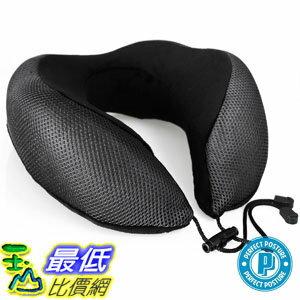 [107美國直購] 記憶頸枕 PERFECT POSTURE Memory Foam Neck Pillow for Travel AngelSoft Fabric, CoolTec mesh