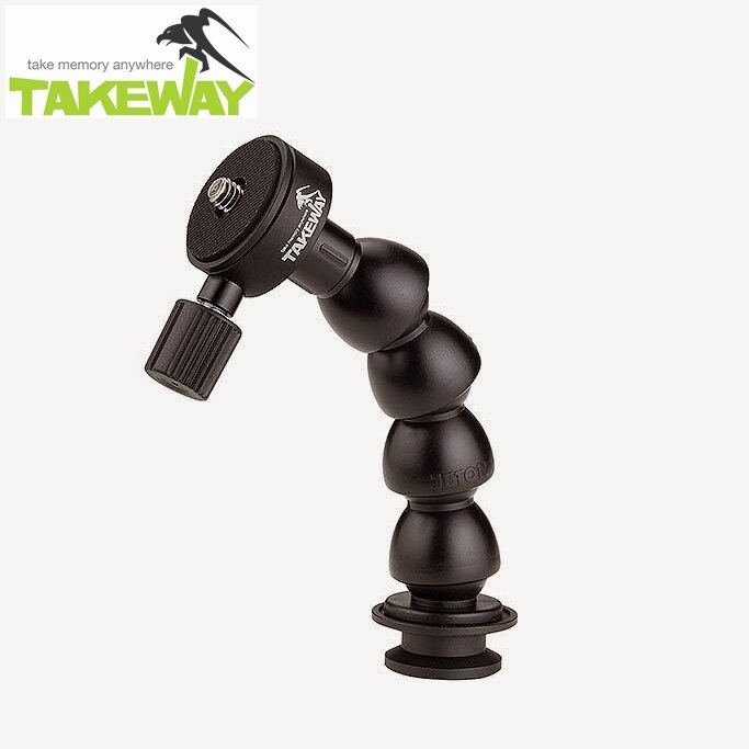 又敗家~ TAKEWAY T1鉗式腳架用蛇頸延長桿T~FN01即T1卡鉗腳架用TFN01蛇