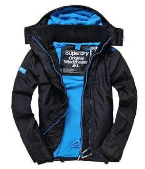 極度乾燥 Superdry Windcheater 17年新款男士三層拉鍊防風外套 登比藍