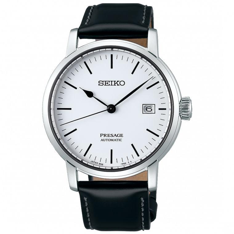 Seiko精工錶 Presage 6R35-00F0W(SPB113J1) 極簡風格琺瑯工藝機械腕錶 / 白面 39.9mm 0