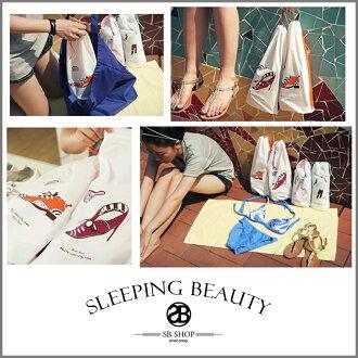 SB SHOP【sh65】多功能收納袋 / 鞋子小物旅行束口袋 可裝比基尼 貼身衣物 超實用