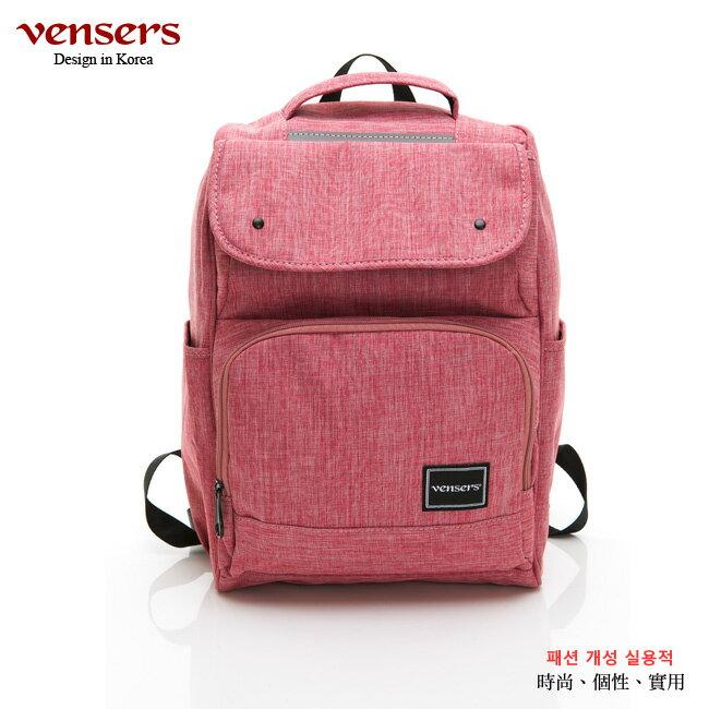 【vensers】 簡約尼龍後背包 (R030202粉色) 0