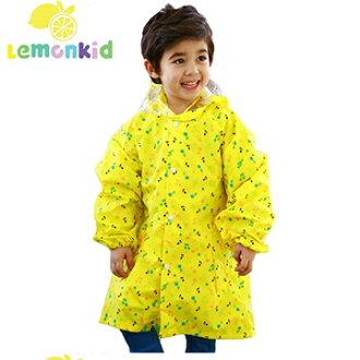 Lemonkid◆正韓歡樂下雨天可愛滿版彩色音符兒童雨衣