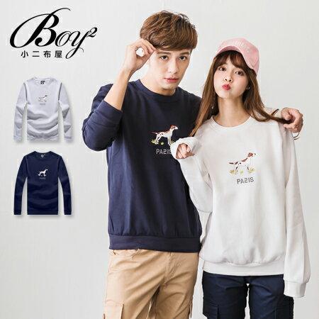 ☆BOY-2☆ 【KK6853】素面圓領LOVE字母滾邊大學T 0