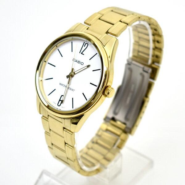 CASIO手錶 極簡數字金色鋼錶【NECE5】