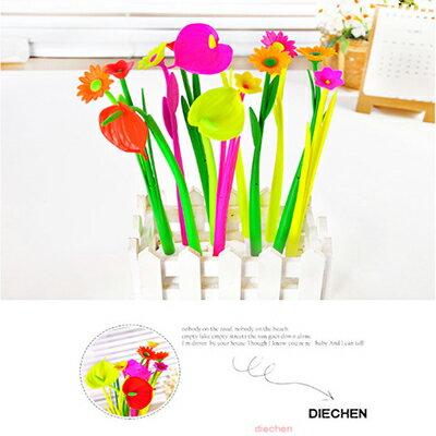 【省錢博士】韓國創意植物造型 / 可愛軟膠矽香味中性筆 / 隨機出貨  9元