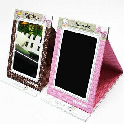 【省錢博士】韓風手工鏡子 / 點點立體摺疊相框紙鏡子 49元