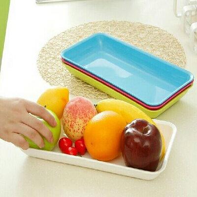 【省錢博士】創意糖果色長條形 / 廚房水果盤收納盒