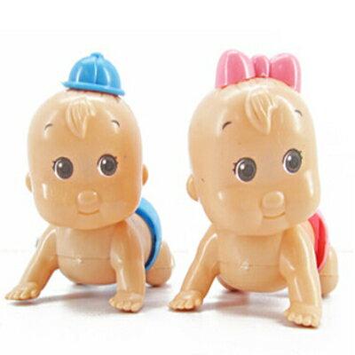 可愛扭屁股上鏈發條娃娃兒童益智小玩具隨機出貨【省錢博士】