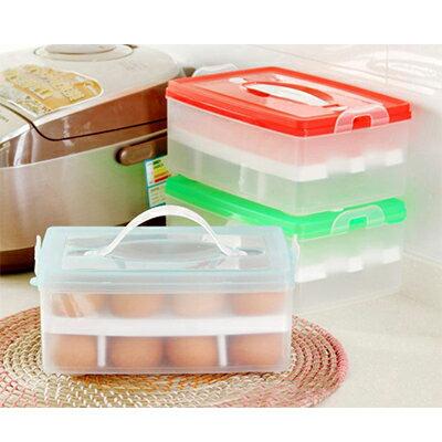 【省錢博士】防碰雞蛋保鮮收納盒 / 可擕式雙層24格 / 外出旅遊