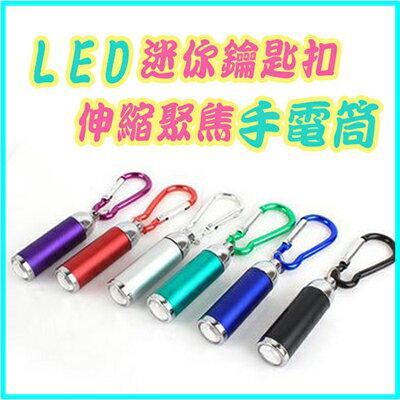 【省錢博士】迷你伸縮聚焦手電筒 / 最小LED強光電筒 變焦強光手電燈 / 不挑款  29元