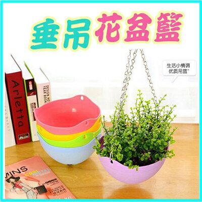【省錢博士】園藝塑料垂吊花盆  /  吊籃盆  /  隨機色 - 限時優惠好康折扣