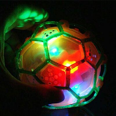 發光音樂七彩蹦蹦球 / 足球閃光跳舞球 跳跳球 隨機色