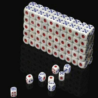 [100顆裝小]塑膠骰子 / 吹牛比大小點數夜店酒吧KTV娛樂(隨機色)