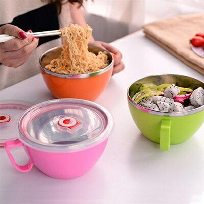 【省錢博士】不鏽鋼密封保溫泡麵碗 / 隨機款 /  單入