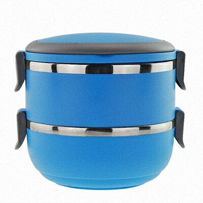 【省錢博士】不鏽鋼手提圓形保溫餐盒雙層 / 野餐飯盒 / 便當盒
