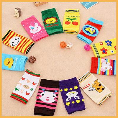 【省錢博士】卡通寶寶護膝套爬行襪套2入 / 兒童保暖短襪套 / 隨機款