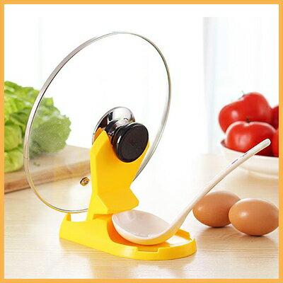 【省錢博士】多功能摺疊鍋蓋架 / 湯勺架 廚房工具 / 隨機色單入