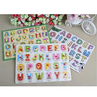 幼兒/兒童 益智26字母英文拼圖 隨機款